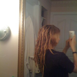 these are my dreads approx 6 months old. which is about how long they lived. I miss them!
