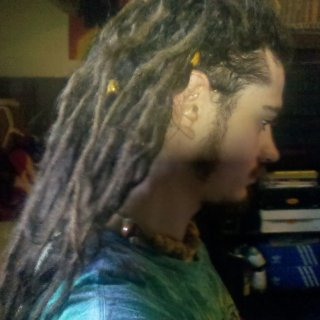 side of my 10 month dreads