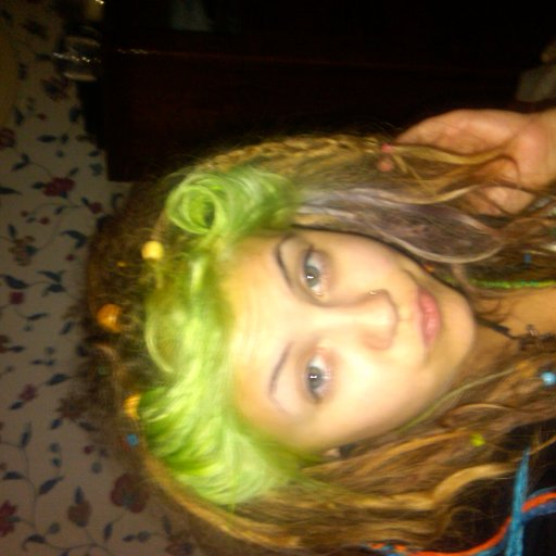 victory rolls and kool aid colored dreads