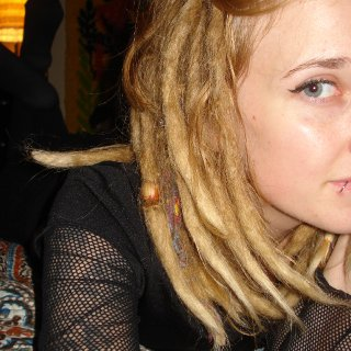 that one dread has a mind of its own.... haha.