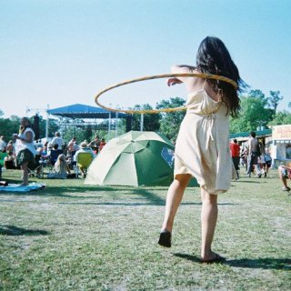 when i bought my first hulee hoop. this badass hooper borrowed & blessed it :)