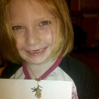 My niece with her necklace