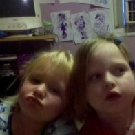 My neice lilly and cousins daughter trinity