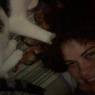 My kitty loves my hair he constantly plays in it!