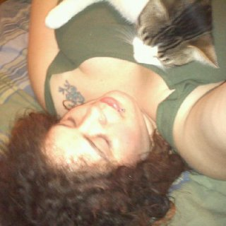 Me and my kitty hanging out :)