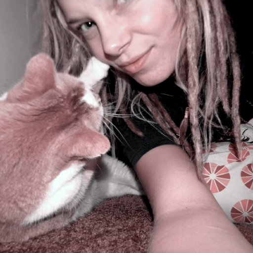 ernie playing with my dreads:)