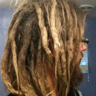 My dreads at 1 year and 7 months