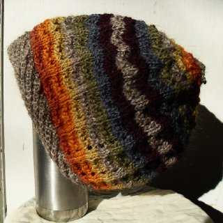 New Tam at HippyFish! Inspired by the colors of the changing seasons.  http://www.etsy.com/listing/85569995/hat-dreadlock-tam-knit-wool-slouch-hat