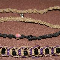 assorted hemp bracelets