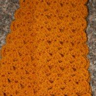crochet gold infinity scarf