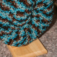 crochet multi colored beret