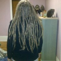 Baby Dreadies from the back
