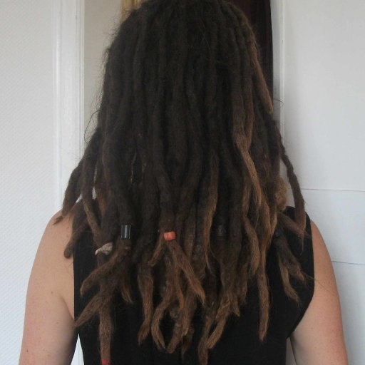 dreads from back