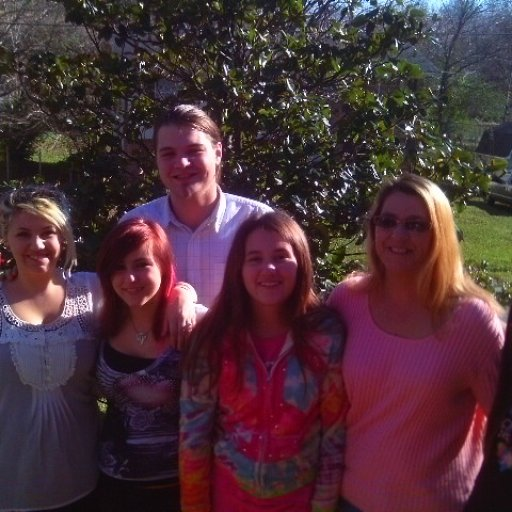 my mom, sisters, the boyfriend and myself on thanksgiving