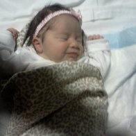 my new precious gift from god. she has two baby dreads on the left .