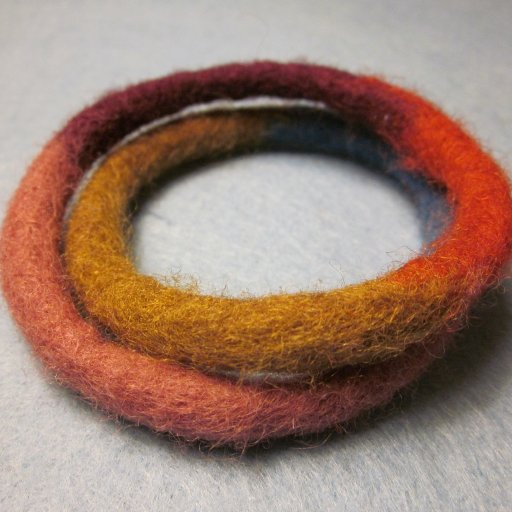 wool wrap bangle
