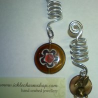 millifiora and hare in the moon dread bead charm