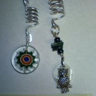 millifiora and owl in the moon dread bead charm