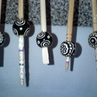 new zendoodle hand painted beads,still waiting to dry.xxx