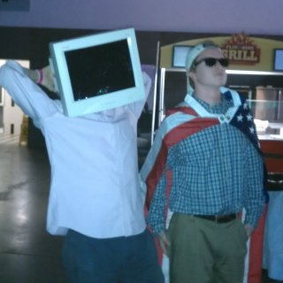 What I thought to be the greatest costume ever...an old school computer monitor head.