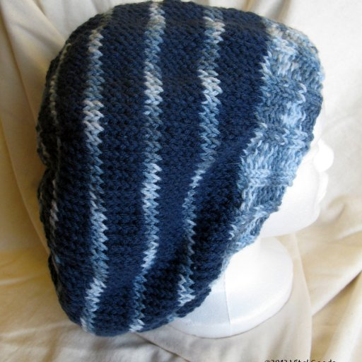 blues knit tam