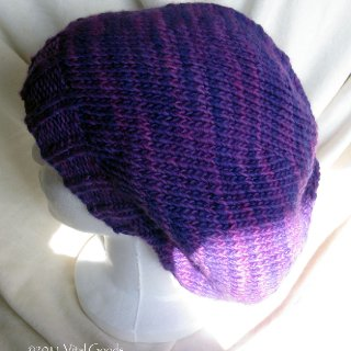 purple,malabrigo merino worsted,hand knit tam