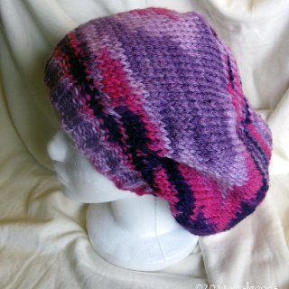 hand knit, vegan, washable acrylic