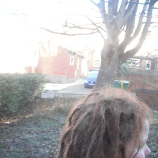 alot of loose hair.. my dreads are pretty skinny due to the thiness of my hair :(