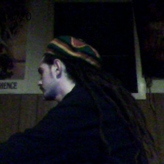 side view of my dreads and tam