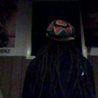 back view of my dreads and tam