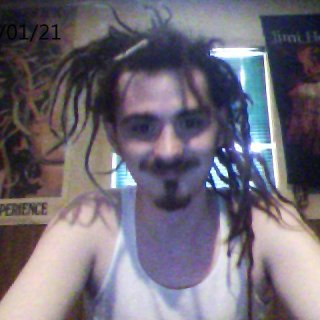 my dreads tied up