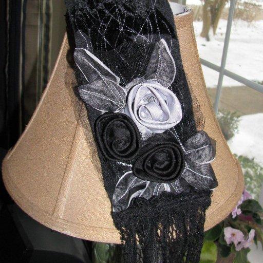 Velvet & lace dread wrap