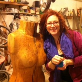 my dreadie self celebrating the completion of our sculpture