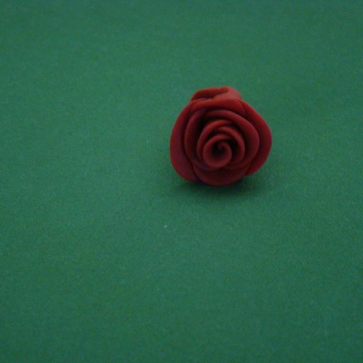Clay Rose Dread Bead- Front