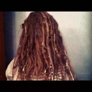 a little over a year free form dreads