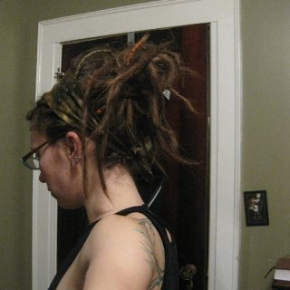 playing with my dreads