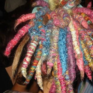 colored dreadlocks