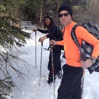 Snowshoing