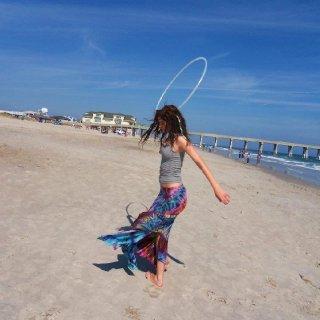 hoopin it up on the beach
