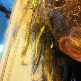 holding dreads together :D
