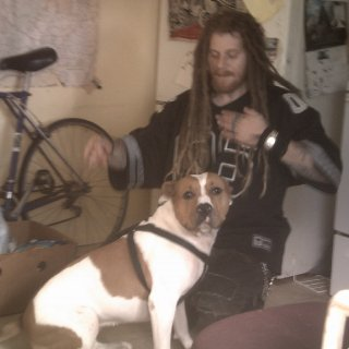 My dog Solanas and me
