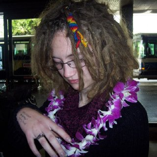 My dreads are about six months along in this picture.. This was back in December =)