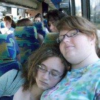 Sleeping on a bus at Hawaii