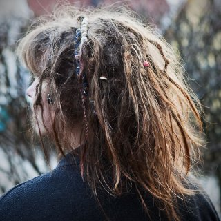 Every time a look at a photo of my dreads I'm so surprised/disappointed. It looks nothing like maturing dreads. When I use my fingers it totally feels like maturing dreads. Oh well, guess I'll just have to wait and be patient.