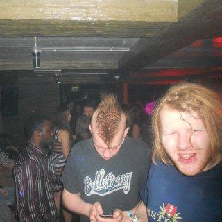in a club...wierdo p