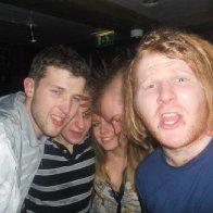 in a club...again  weird.