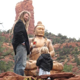 Seamus & I at the stupa