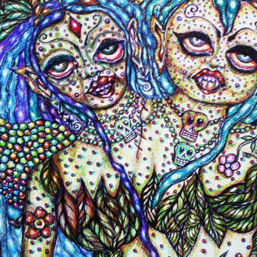 Surrealist Psychedelic Fantasy Drawing created by Trina Sandress