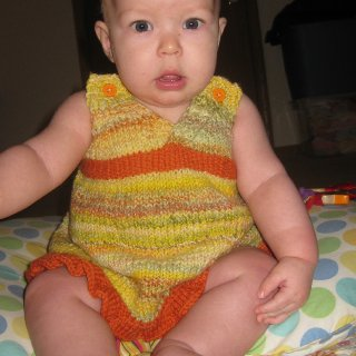 Thanks so much Mindy it is beautiful! Lurve handspun & handknits!  Baby girl is almost 6 months now. (& if you were to zoom in & look super close just got her first tooth!)