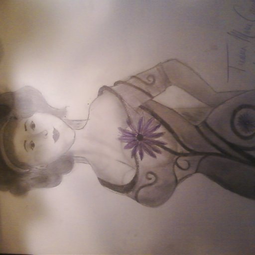 drawing of a pinup girl